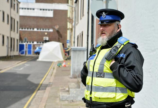 Police cordon off College Street in Whitehaven following an incident in the early hours of Friday morning..PHOTO TOM KAY