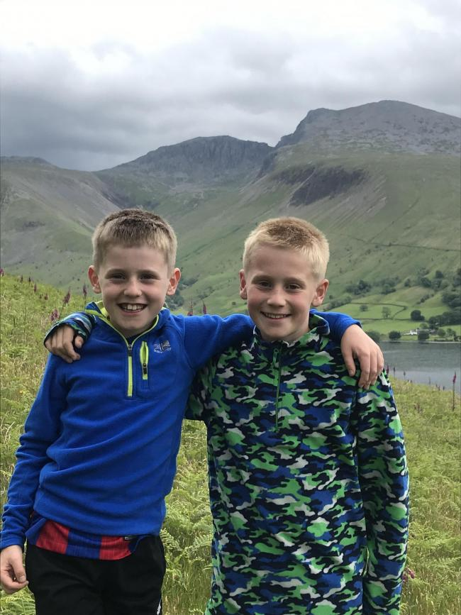 FUNDRAISING: Eight-year-old Harry Rowe (left) and brother Oliver, 11, will scale Scafell Pike to raise money for the Juvenile Diabetes Research Foundation