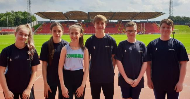 COMPETING: St Benedict's School athletes at Gateshead