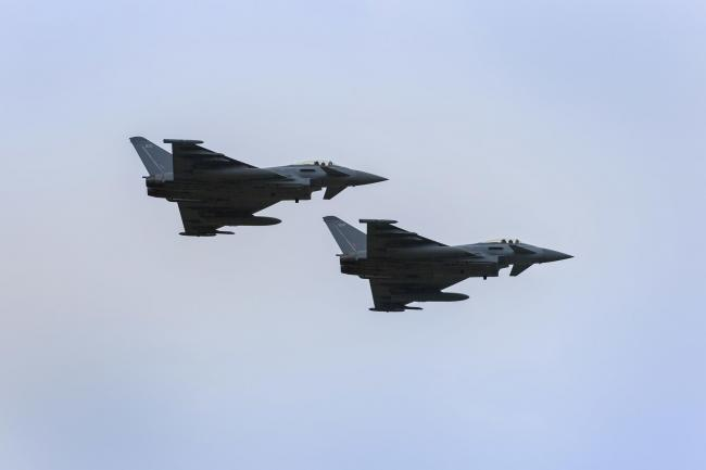Typhoon jets from RAF Coningsby