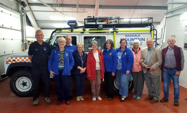 Whitehaven Castle Rotary Club visit to Wasdale Mountain Rescue