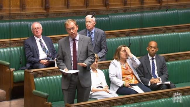 Westmorland and Lonsdale MP, Tim Farron speaking in Parliament