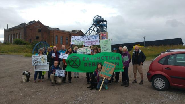 Protest: Activists gather to march against plans for West Cumbria's new mine