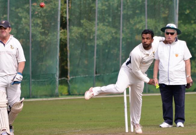 Geeth Kumara: The Keswick spinner took six wickets for 17 from 10.4 overs, and made 38 runs as his side beat Cockermouth (Photo: Ben Challis)