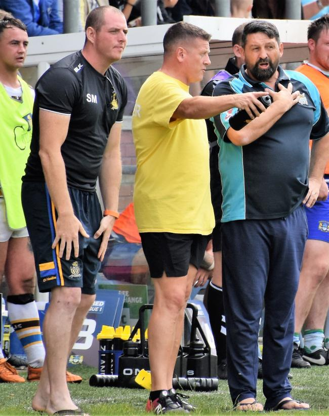 n Haven coaches Scott McAvoy, Jonty Gorley and Gary Charlton will prepare for Keighley						     Picture: Ben Challis