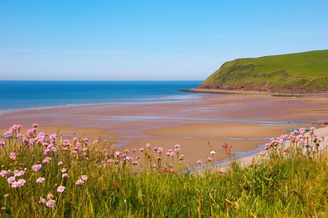 n St Bees beach is a popular place for a day out