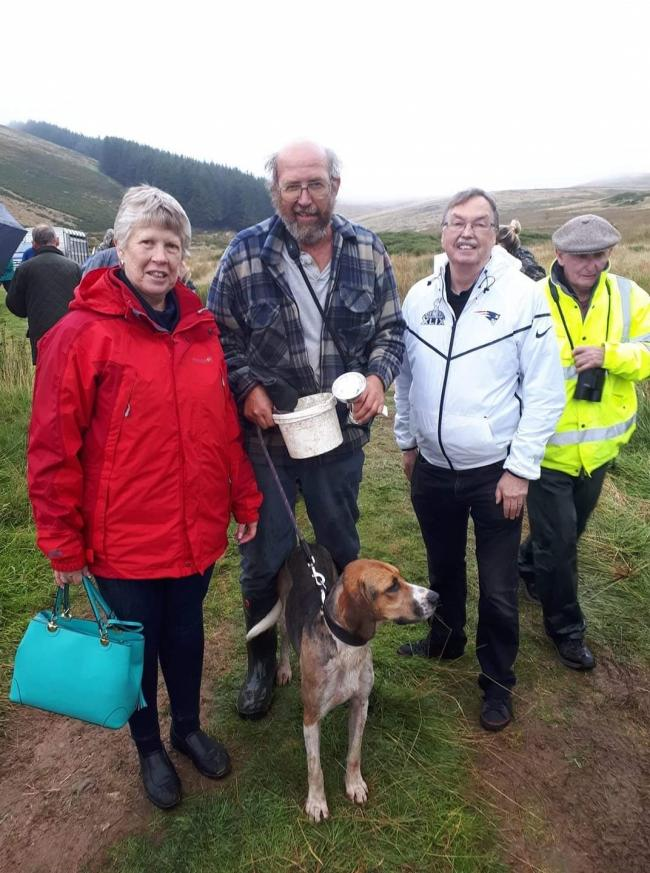 James Irving with Overwater Sully, winner of pups at Ennerdale Show, with Sandy Bushby's family who donated £100 to the puppy winner in Sandy's memory