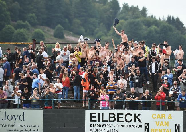 n More than 2,000 fans watched the derby against Workington Town at the Recreation Ground