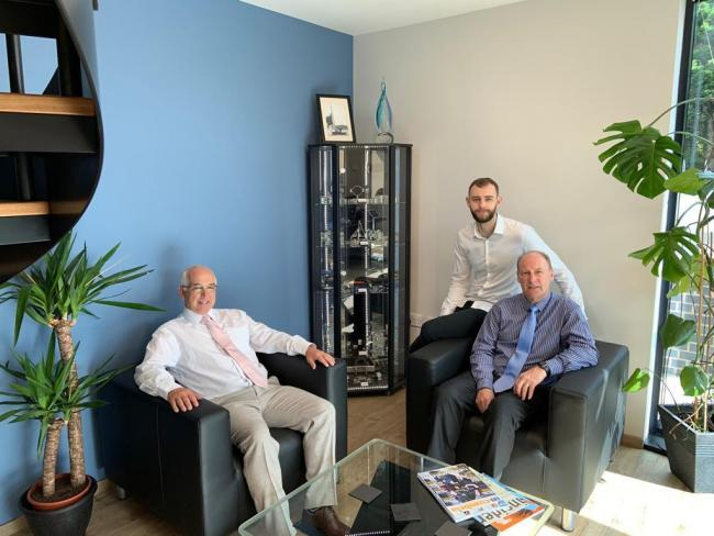 Staff Graphskill in their new offices in Egremont. From left to right Ron Taylor, IT director, Max Statter - works manager - and Martin Statter, managing director.