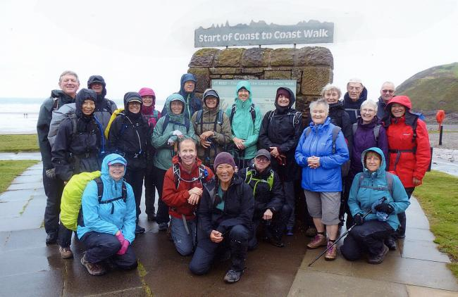 Members of Whitehaven Rambling Club joined walkers from the Sierra Club of America on the first two stages of the Wainwright Coast to Coast Walk - St Bees to Ennerdale then Ennerdale to Honister via Black Sail Hut