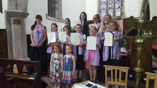 The Harriet Malone Singers performed their Summertime Concert at Lamplugh Church, raising £152.00.