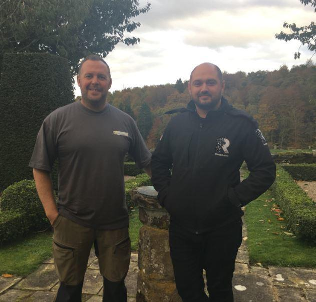 William King, managing director of William King Brickwork Solutions Ltd and Lee Grears, managing director of Responsive Ltd. Lee and William benefited from the Leader to Leader scheme in 2017