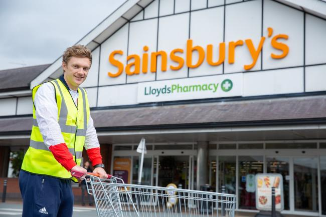 Pete Mitchell outside the Northwich branch of Sainsbury's