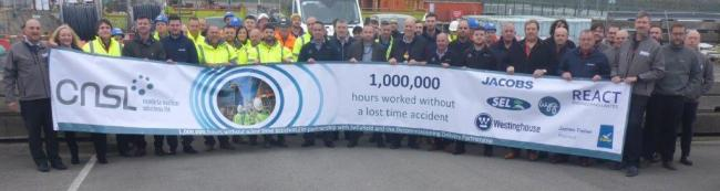 Cumbria Nuclear Solutions Ltd hit 1 million hours without a lost time accident
