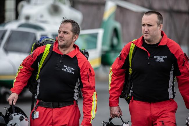 TV: GNAAS paramedic Lee Salmon and GNAAS doctor Doogie Howes, who both feature in the series, which will air on Sunday nights on More4         Picture: GNAAS/More4