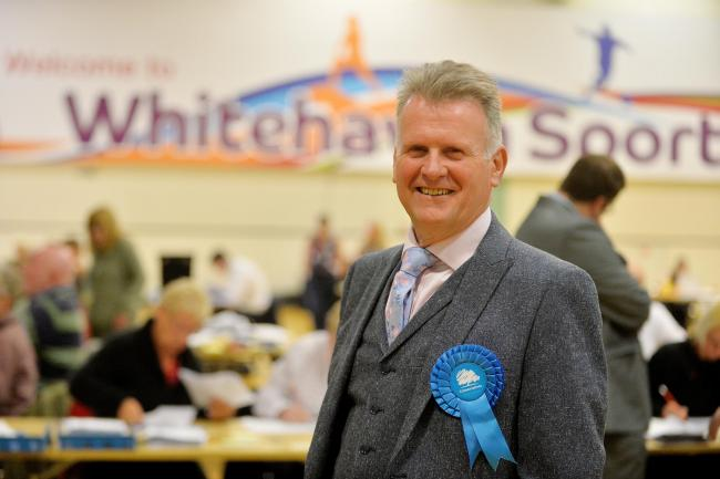 SWIPE: Ged McGrath who has left the Conservatives to stand for the Brexit Party
