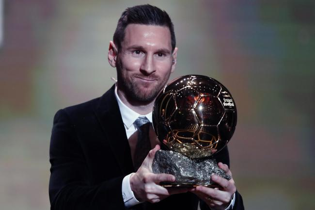 Lionel Mess has won the Ballon d'Or for a record sixth time