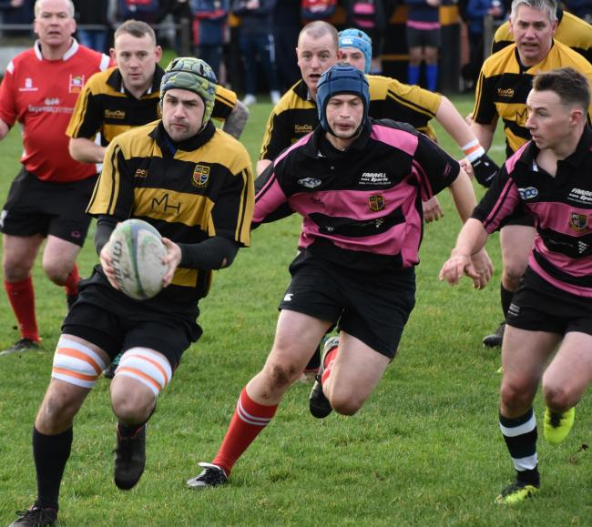 n Egremont's game against an ex-St Bees XV in the annual Thomas Froggatt memorial match was a close-fought encounter which was played in good spirits for an important cause			   BEN CHALLIS