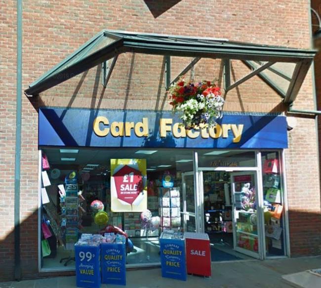 The Card Factory store in Barrow (Picture: Google Maps)