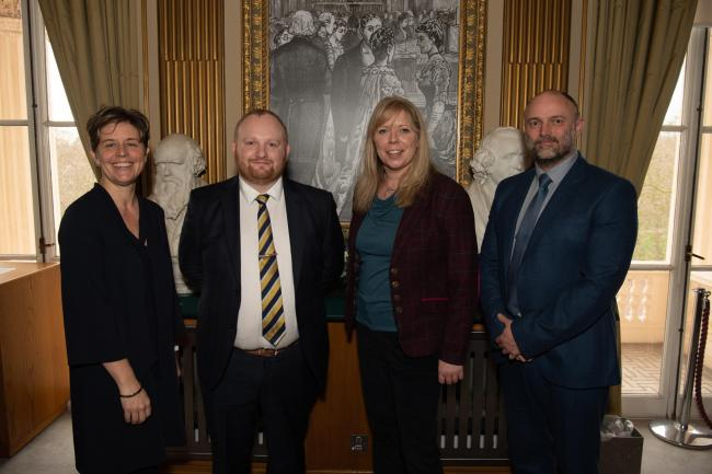 Recognised: Chris Fairclough, second on the left, with three other teachers awarded Technical Teaching Fellowships
