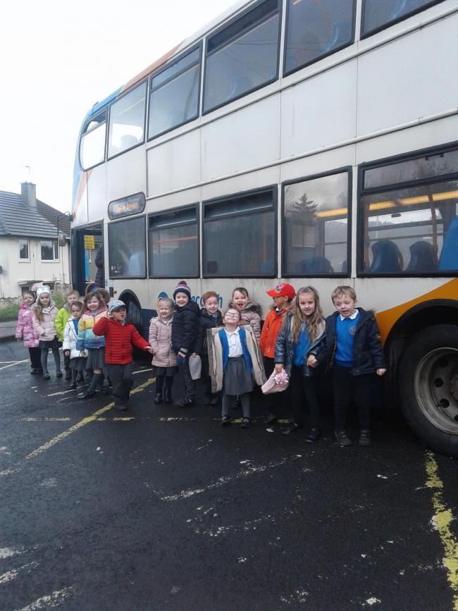 Reception pupils at St Gregory and St Patrick's Catholic Infant School enjoyed a bus trip around Whitehaven