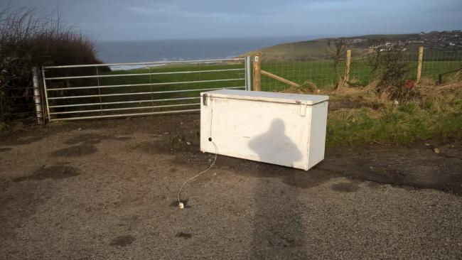 Freezer fly-tipping at Low Moresby. Copeland Council has removed the item