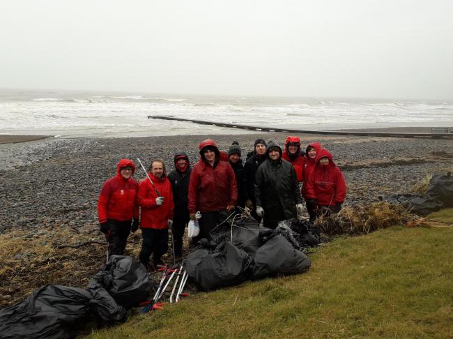 National Trust team litter pick at Seascale Feb 2020 Pic: National Trust