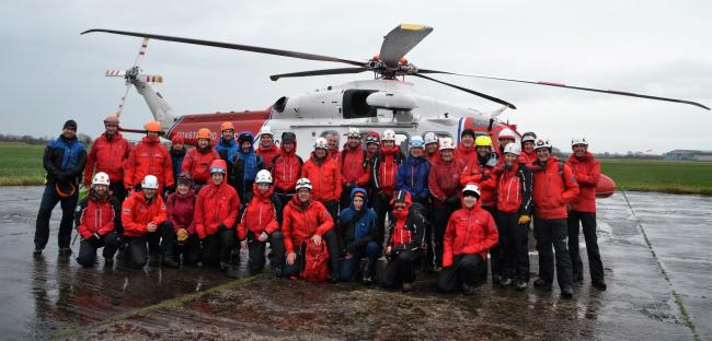 Lake District Search and Mountain Rescue Association (LDSAMRA) has thanked members of the public for staying at home during the coronavirus lockdown. Members from each of the mountain rescue teams are pictured.  Pic credit: Langdale Ambleside Mountain Res