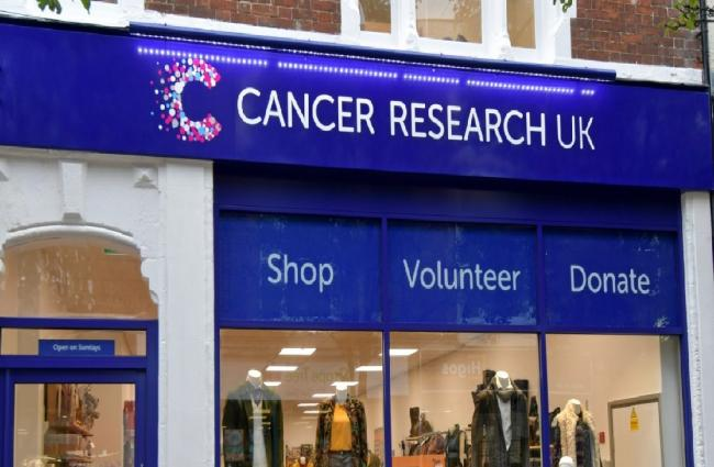 Cancer Research UK shopfront.