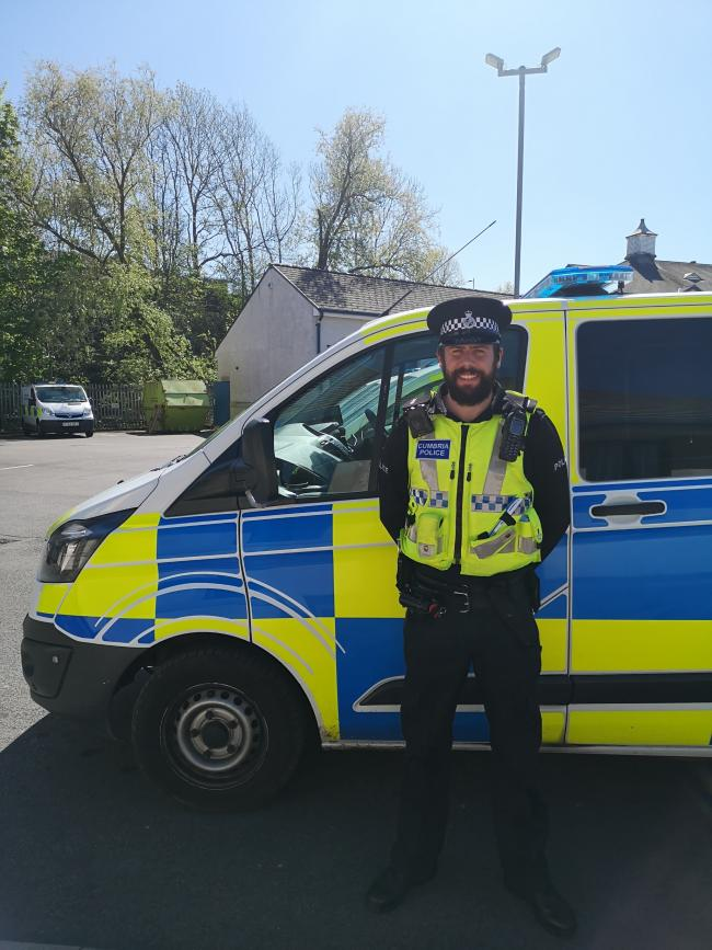 EXTRA MILE: Special constable Stephen Berry                                      Picture: Cumbria Constabulary