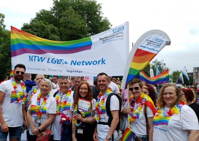 Trust celebrations: The CNTW NHS Foundation Trust's LGBT+ Staff Network marking Pride at an event last year