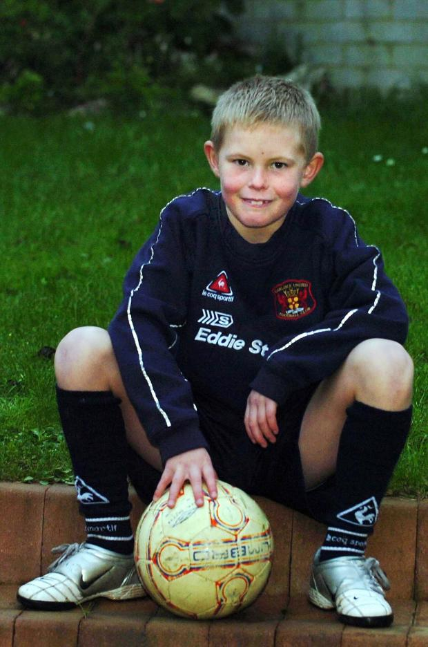 Whitehaven News: Dean Henderson pictured after joining Carlisle United aged eight 9photo: Mike McKenzie)