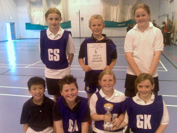 Whitehaven News: Henderson, back row centre, with fellow Jericho School pupils after winning a netball event
