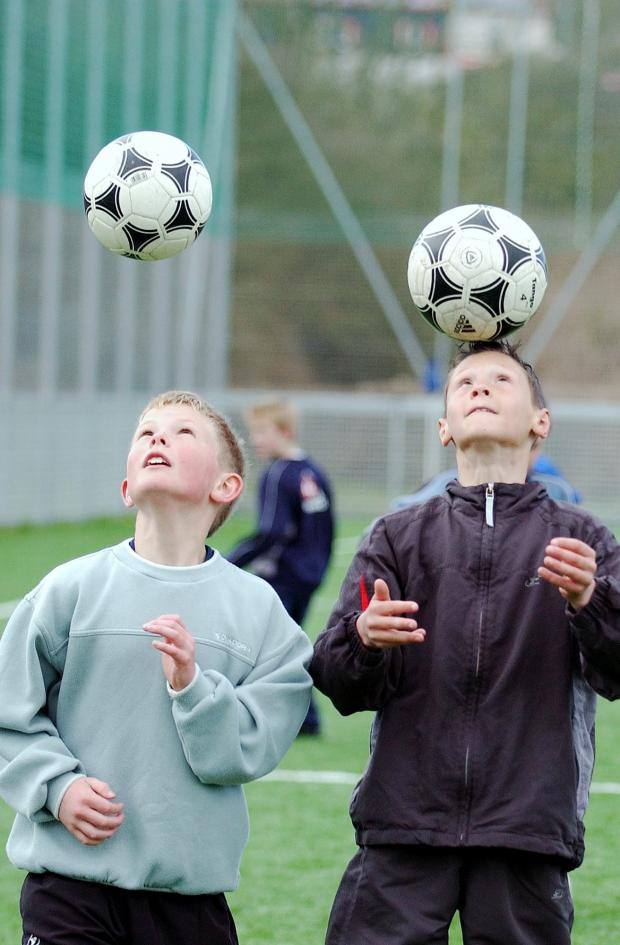 Whitehaven News: A young Dean Henderson, left, shows off his skills (photo: Mike McKenzie)