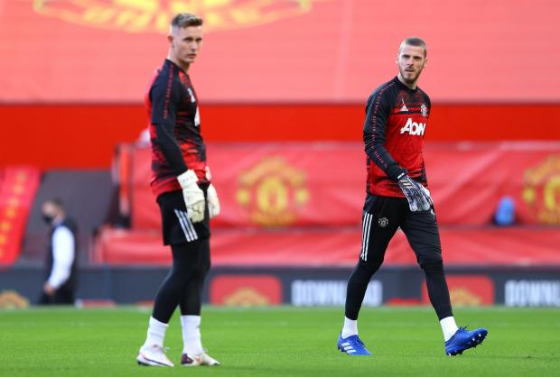 Whitehaven News: Henderson and David De Gea pictured before Manchester United's Premier League game against Crystal Palace (photo: PA)