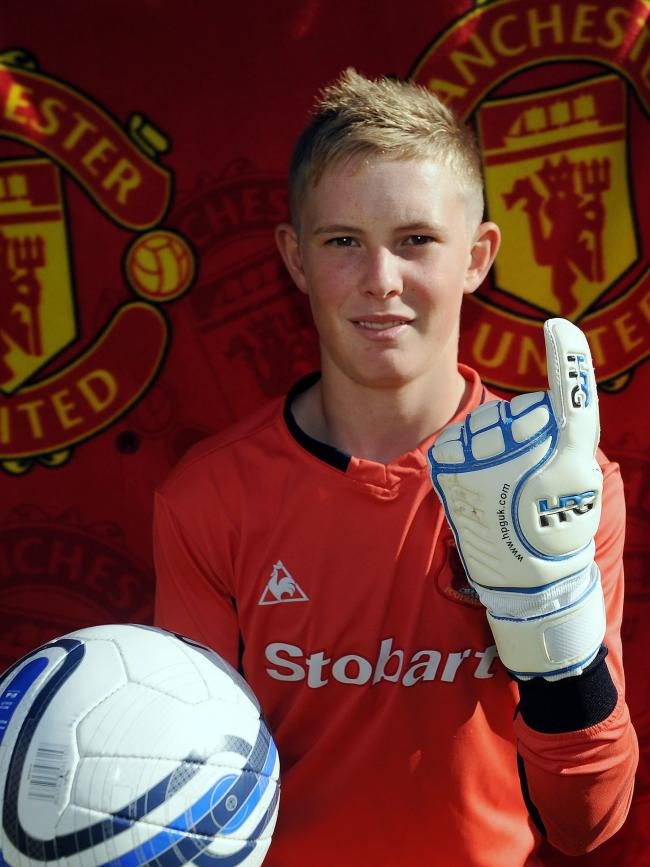 Dean Henderson pictured in 2011 after joining Manchester United from Carlisle (photo: Mike McKenzie)