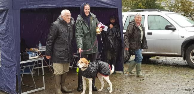 Jenny Bland with Huntsman's Major, winner of seniors at the October Premier Trail