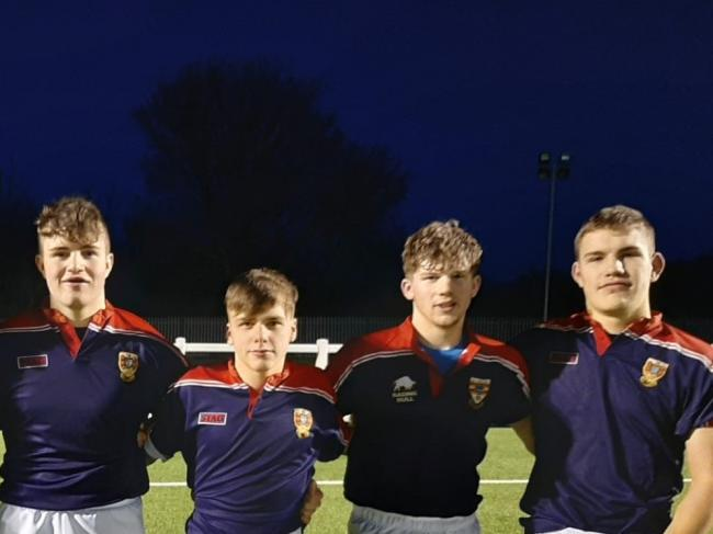 George Fisher (right) has been signed to a scholarship with Leicester Tigers