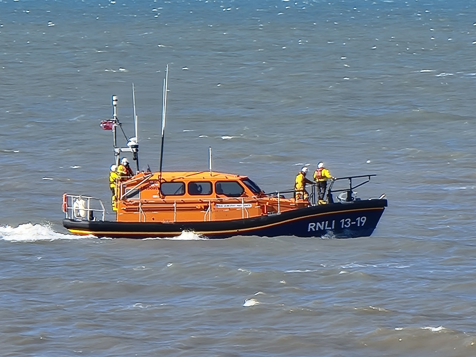 Workington RNLI volunteers were called out due to concern for a solo kite surfer