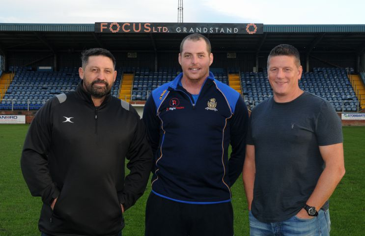 Whitehaven RLFC coaches, left to right, Gary Charlton, Scott McAvoy and Jonty Gorley.