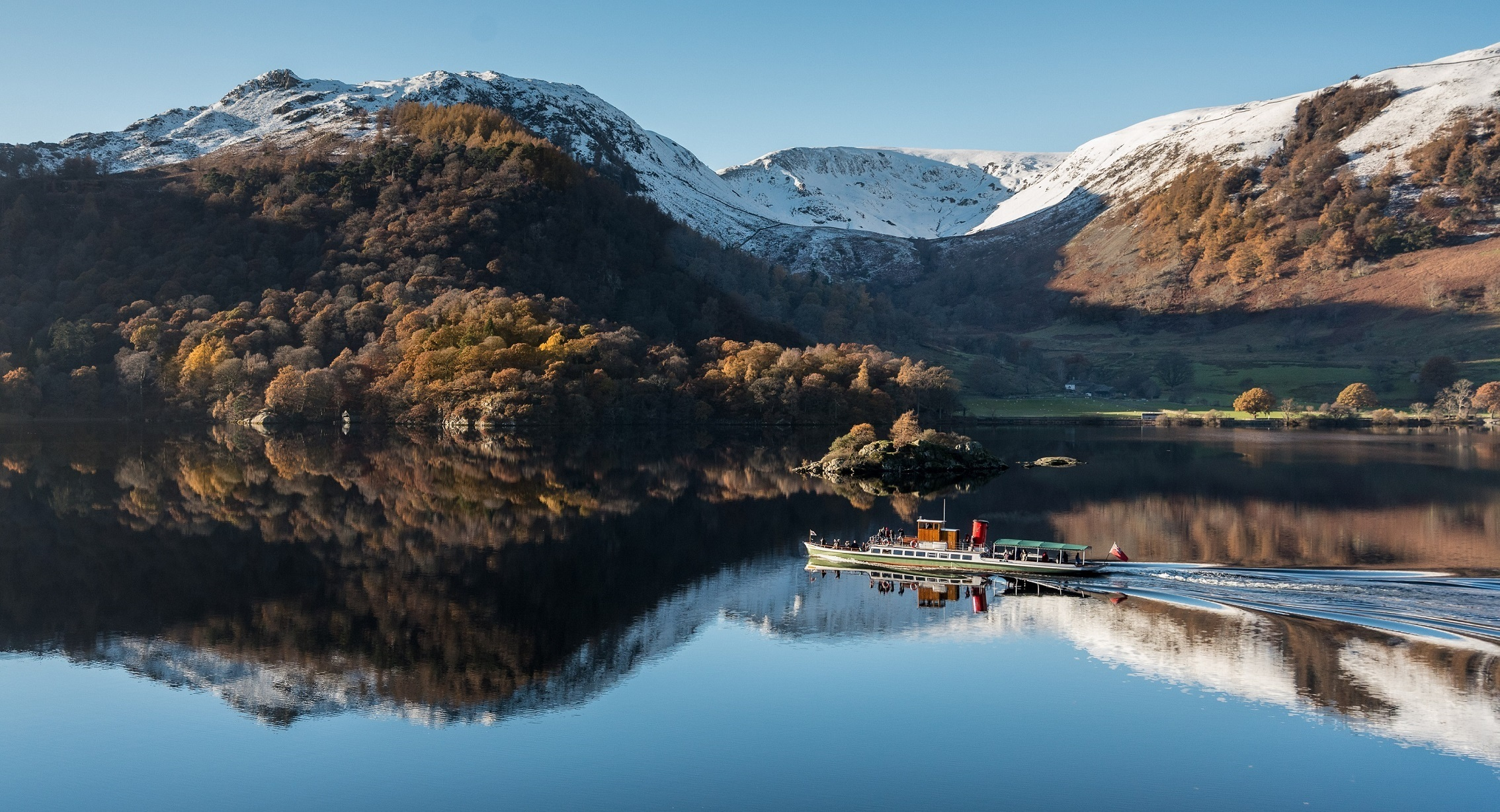 View across Ullswater towards Glenridding, taken by visitor and amateur photographer, Les Fitton.