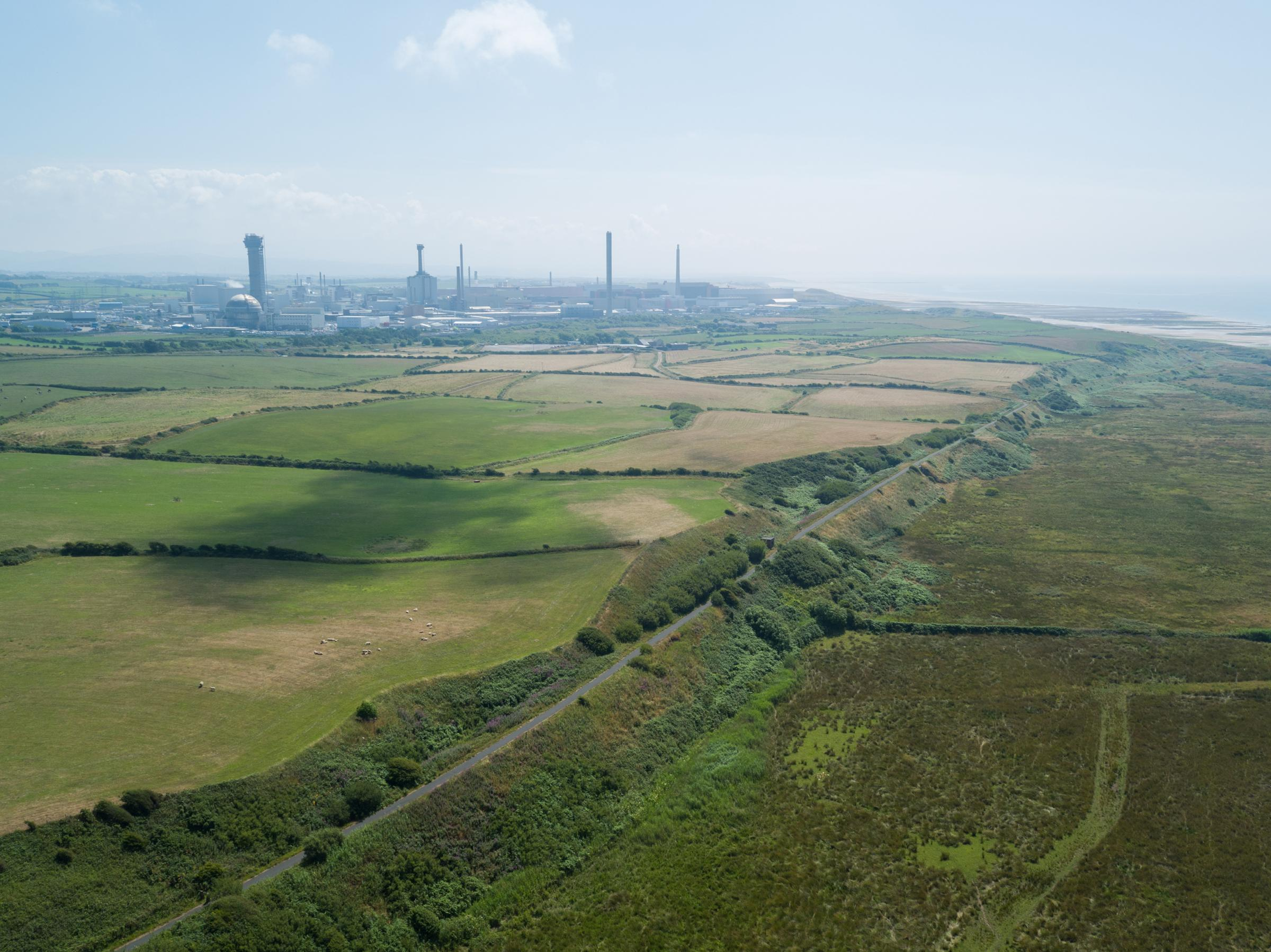 Aerial images of the Moorside Site.