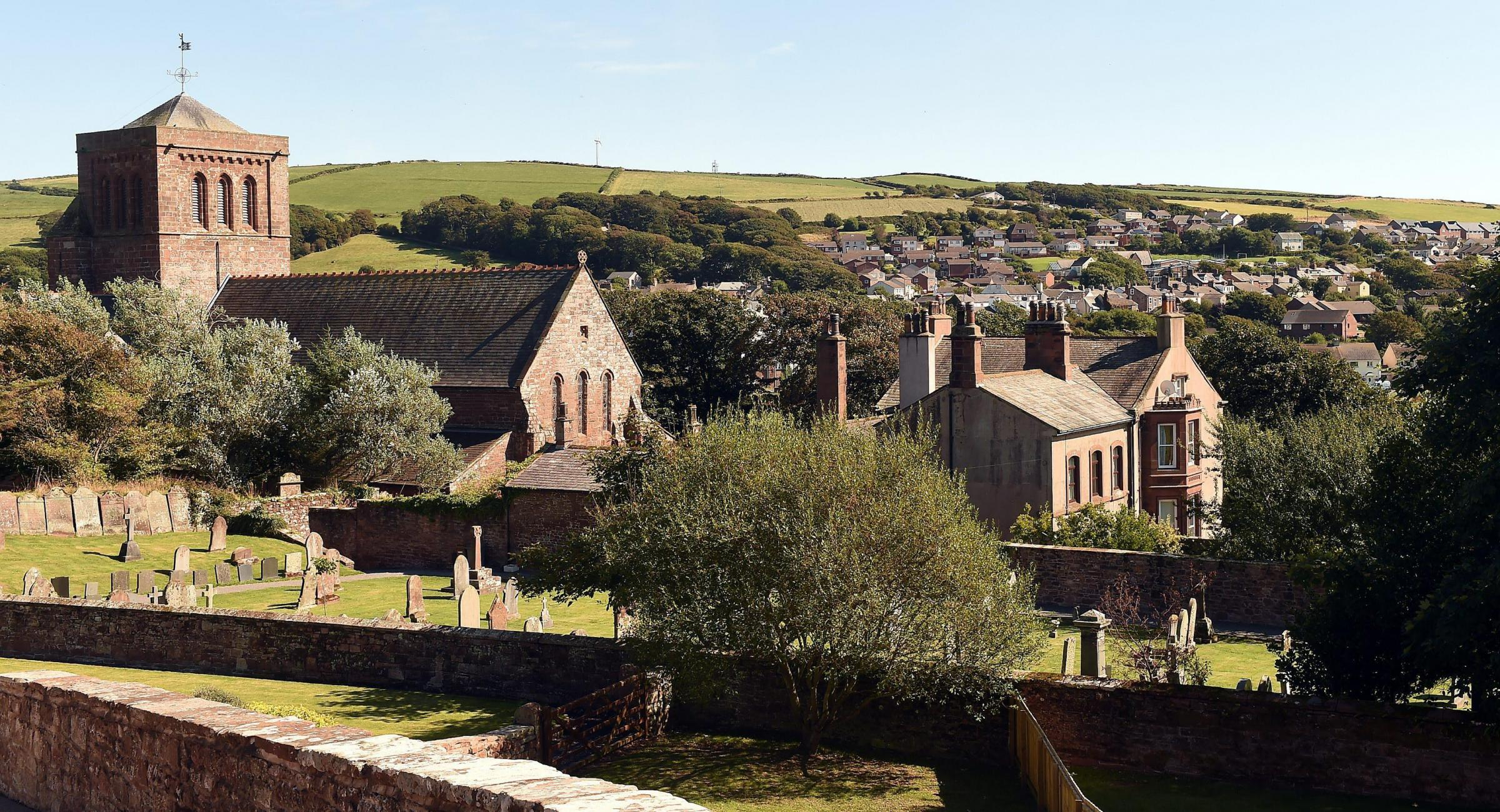 The village of St Bees with St Bees Priory