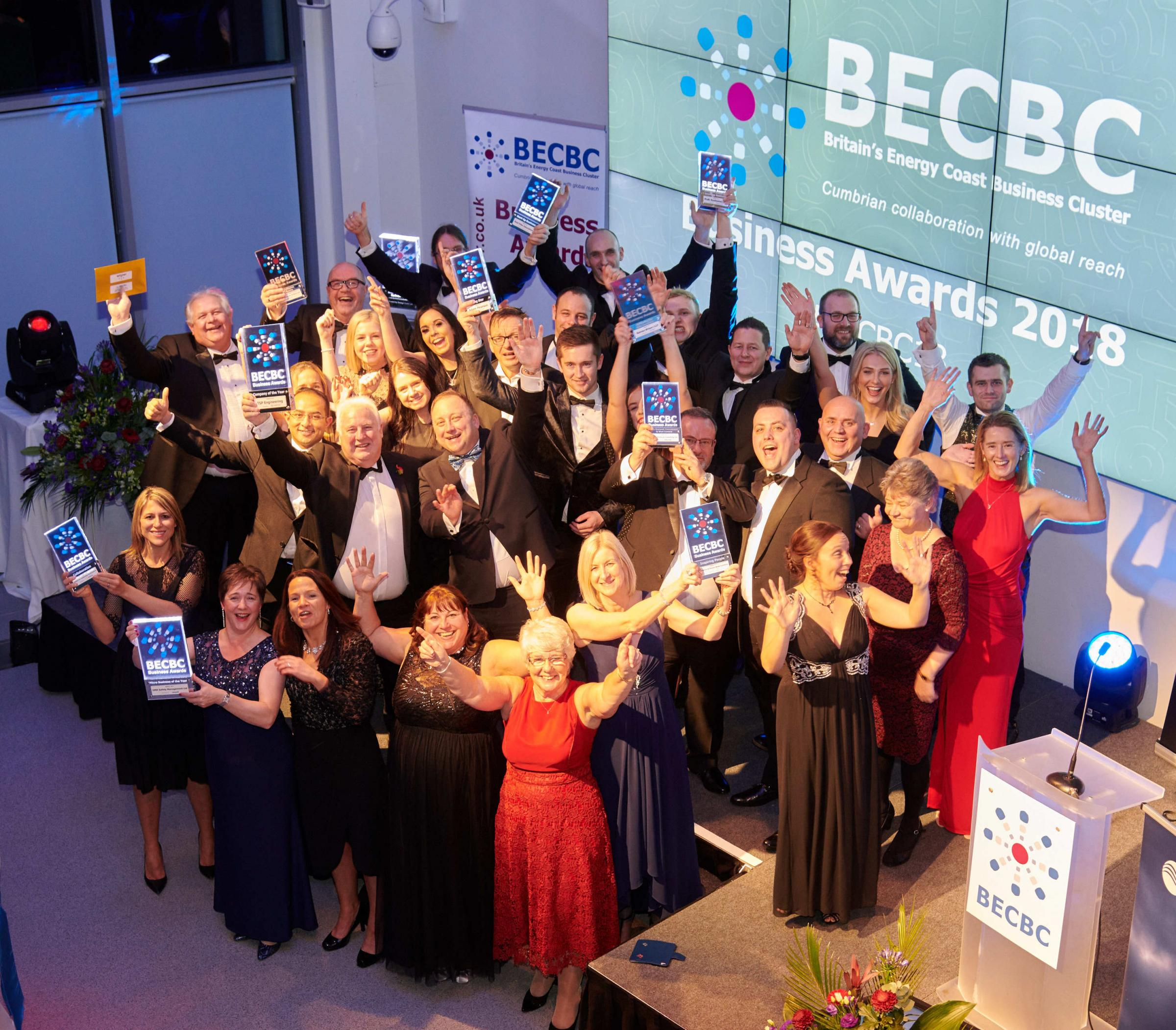 Winners of the 2018 Britain's Energy Coast Business Awards