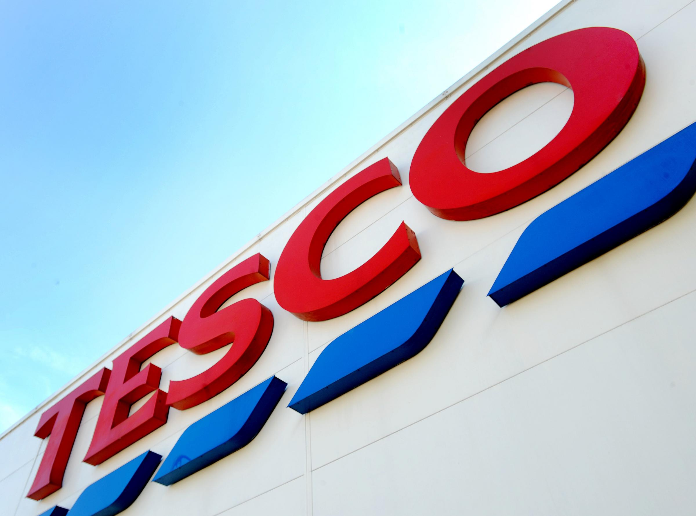 "File photo dated 26/08/16 of a Tesco sign, as the company has confirmed that up to 9,000 jobs are at risk across its head office and stores as part of efforts to ""simplify"" the business. PRESS ASSOCIATION Photo. Issue date: Monday January 28, 20"