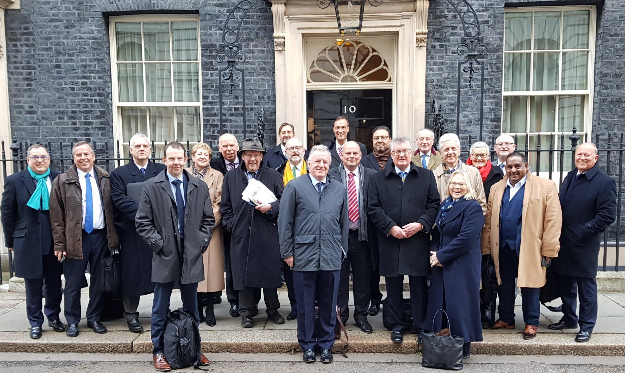 Represntatives from regional Local Enterprise Partnerships at 10 Downing Street.