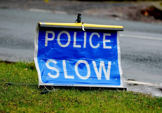 GENERIC Police Slow road sign..Pic Tom Kay     Sunday 11th February 2018 50089863T038.JPG.