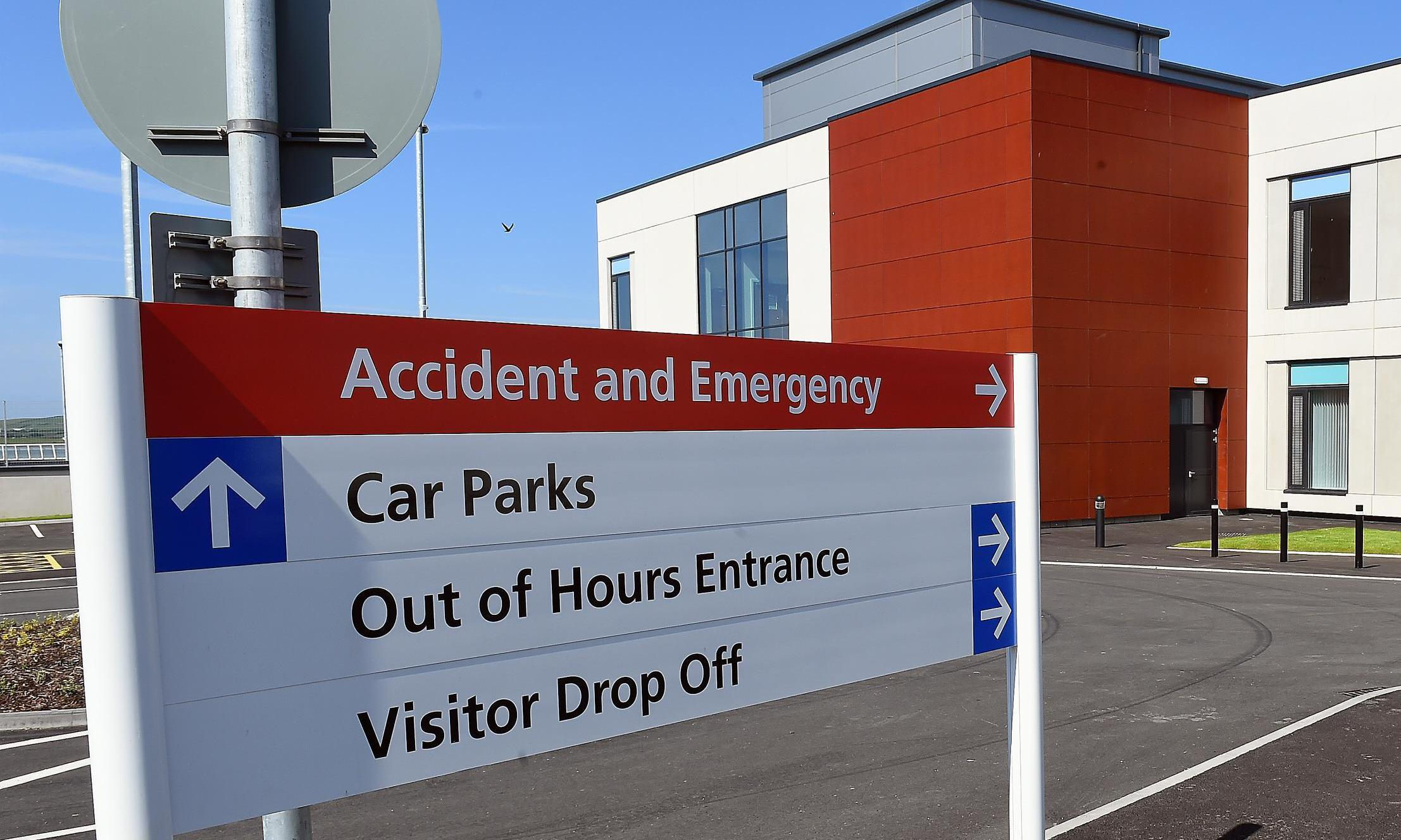 West Cumberland hospital new build.... Rear visitor  entrance   at West Cumberland hospital , Whitehaven.pic John Story June 9th 2015.
