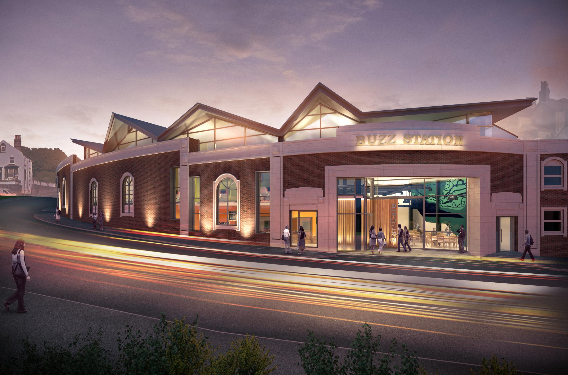 Artist's impression of the Buzz Station, part of the North Shore project, Whitehaven