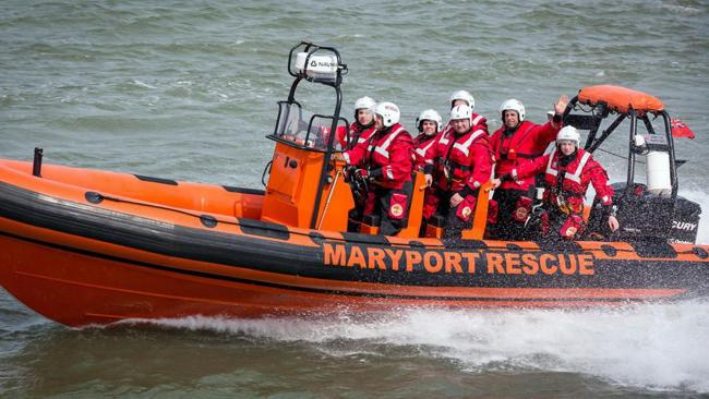 Maryport Inshore Rescue crew